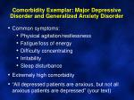 comorbidity exemplar major depressive disorder and generalized anxiety disorder