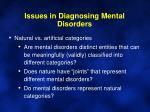 issues in diagnosing mental disorders