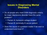 issues in diagnosing mental disorders4