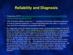 reliability and diagnosis1