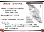 example nipah virus