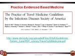 practice evidenced based medicine