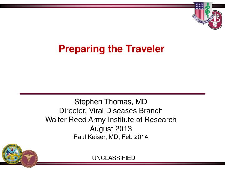 preparing the traveler n.