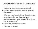 characteristics of ideal candidates