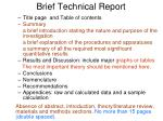 brief technical report