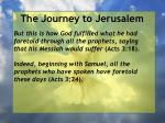 the journey to jerusalem100