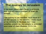 the journey to jerusalem107