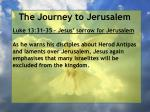 the journey to jerusalem111