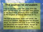 the journey to jerusalem95