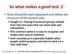 so what makes a good test 2