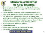 standards of behavior for away regattas