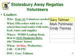 stotesbury away regattas volunteers1