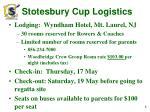 stotesbury cup logistics