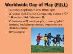 worldwide day of play full