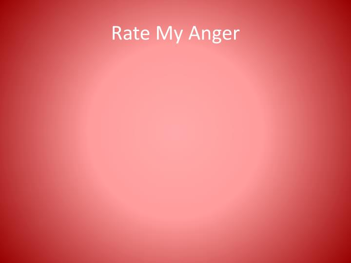 rate my anger n.