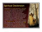 spiritual declension