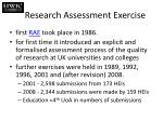 research assessment exercise