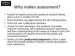 who makes assessment
