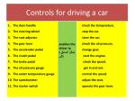 controls for driving a car1