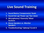 live sound training