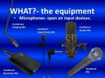 microphones open air input devices
