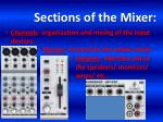 sections of the mixer