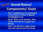 sound basics components goals1