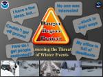 assessing the threat of winter events