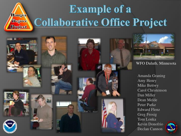 example of a collaborative office project n.