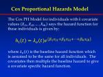 cox proportional hazards model1