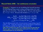 hazard ratio hr for continuous covariates