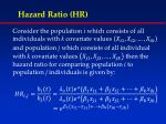 hazard ratio hr