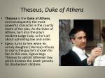 theseus duke of athens