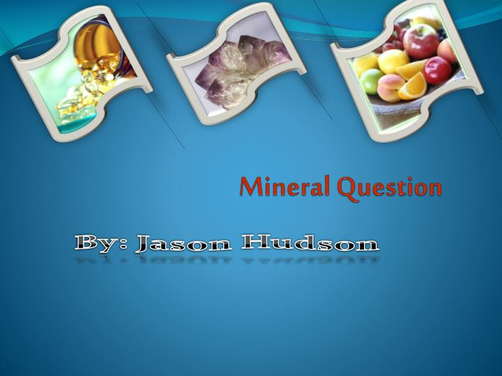 mineral question n.
