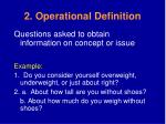 2 operational definition