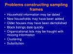 problems constructing sampling frames