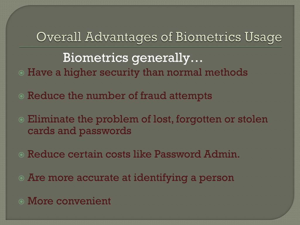 PPT - Biometrics in Society PowerPoint Presentation - ID:2238285