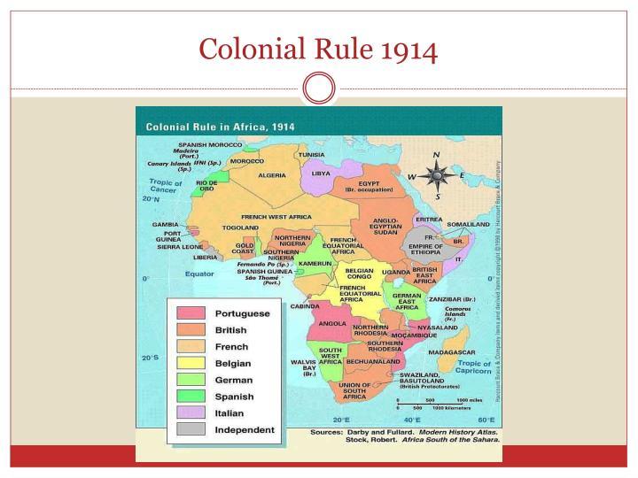 Colonial Rule 1914