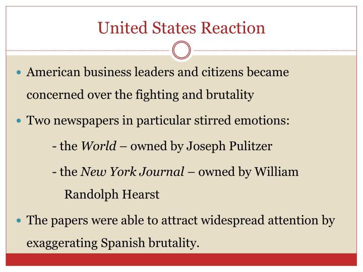 United States Reaction