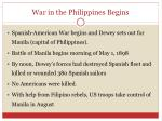 war in the philippines begins