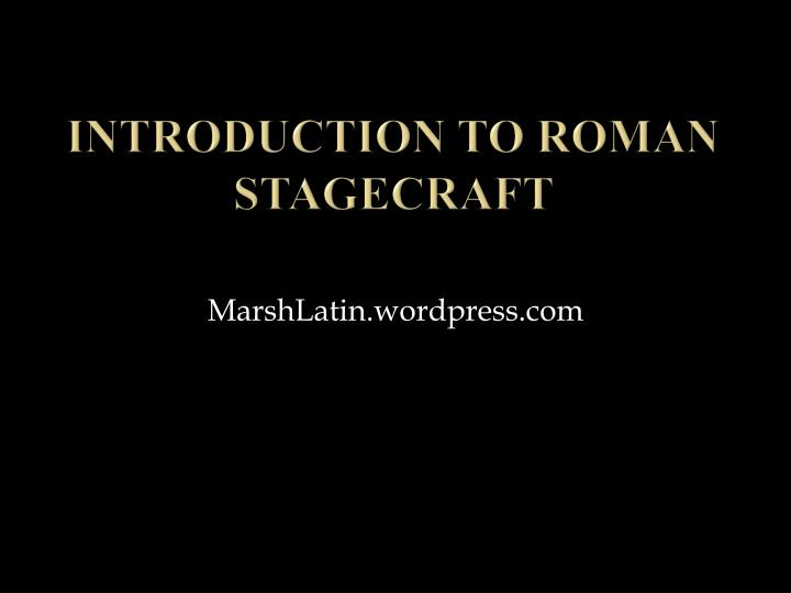 introduction to roman stagecraft n.