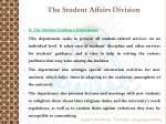 the student affairs division1