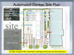automated garage site plan
