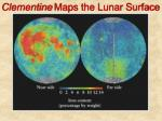 clementine maps the lunar surface