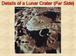 details of a lunar crater far side