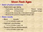 moon rock ages