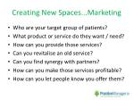 creating new spaces marketing