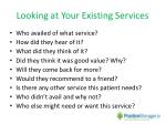 looking at your existing services
