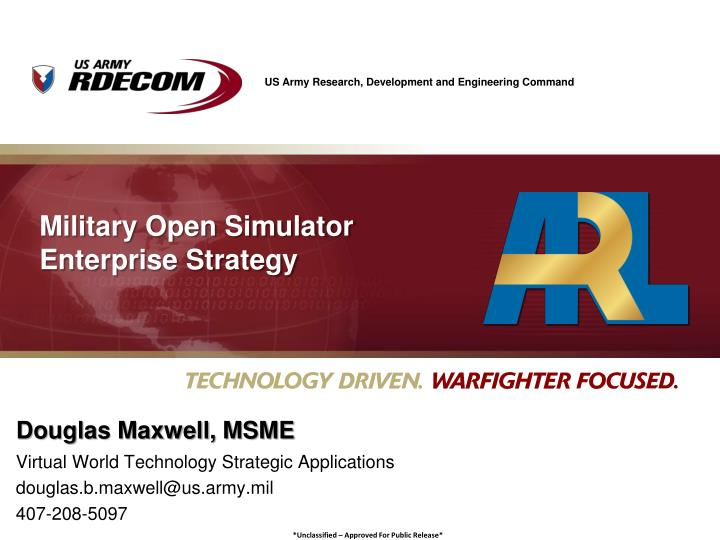 military open simulator enterprise strategy n.