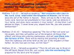 indications of coming judgment spoken by yahooshua jesus